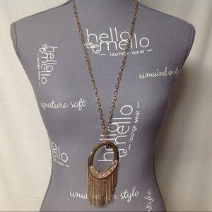 Thalia Sodi Gold Tone Necklace Circle Fringe